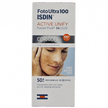 Isdin Foto Ultra 100 Active Unify Fusión Fluide SPF 50+ 50 ml